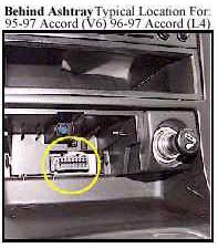 Диагностический разъём Honda Accord (1995-1997 гг.)