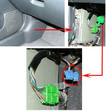 Диагностический разъём Honda Civic (1997 г.)