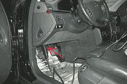 Диагностический разъём Mercedes S-класс W220