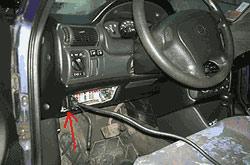 Диагностический разъём Opel Astra F (1996-1998 гг.)