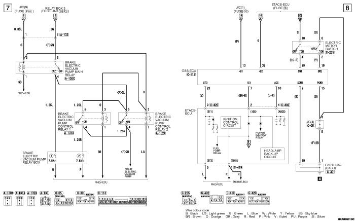 mmc outlander phev POWER  DISTRIBUTION SYSTEM
