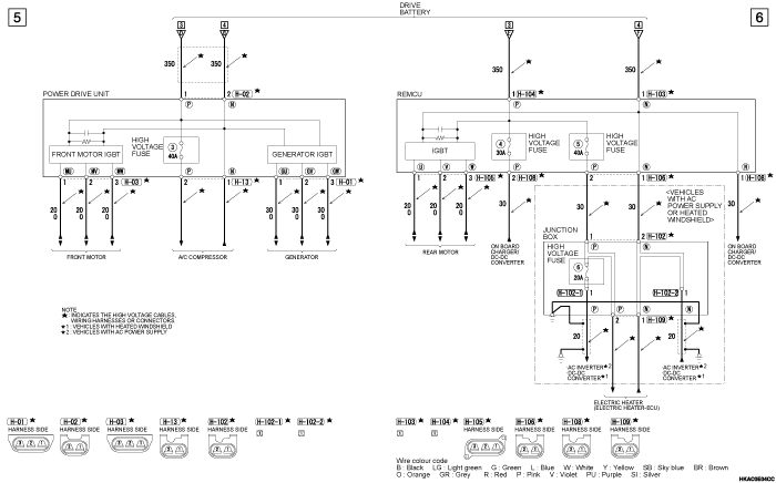 mmc outlander phev HIGH  VOLTAGE POWER SUPPLY CONTROL SYSTEM