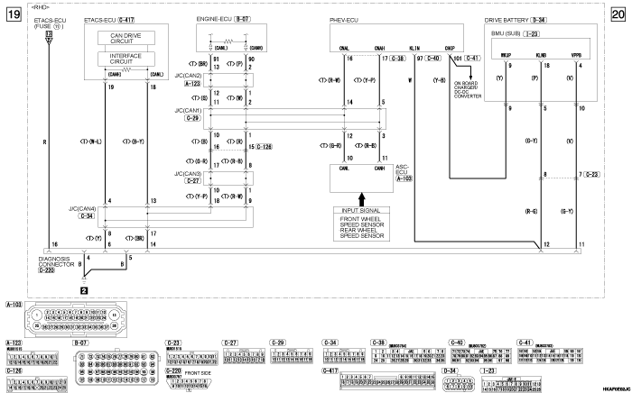 mmc outlander phev ELECTRIC  MOTOR UNIT CONTROL SYSTEM