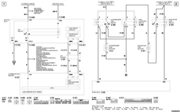 mmc outlander phev ENGINE  COOLING SYSTEM