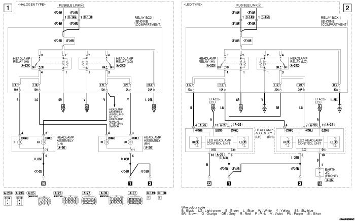 mmc outlander phev фары AUTOMATIC  HIGH BEAM SYSTEM (правый руль)