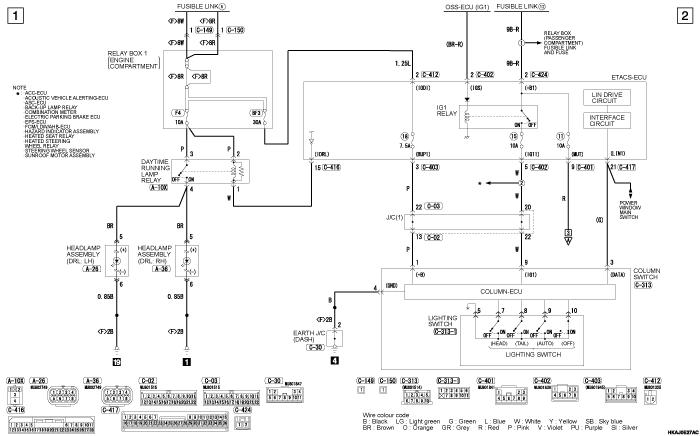 mmc outlander phev DAYTIME  RUNNING LAMP (DRL) левый руль