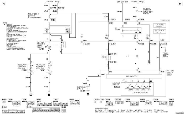 mmc outlander phev DAYTIME  RUNNING LAMP (DRL) (правый руль)
