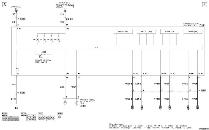 mmc outlander phev POWER  WINDOWS (правый руль)