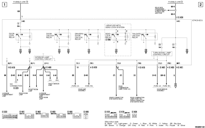 mmc outlander phev CENTRAL  DOOR LOCKING SYSTEM (правый руль)