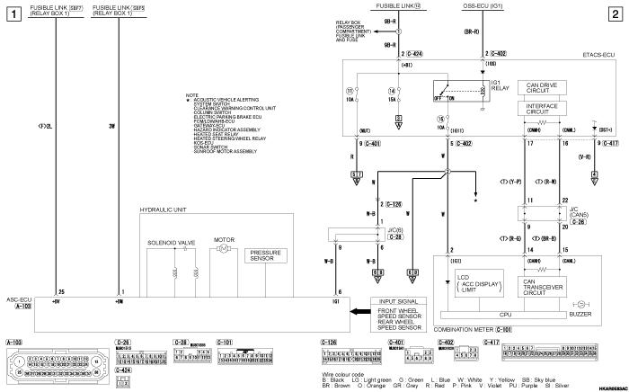 mmc outlander phev ADAPTIVE CRUISE  CONTROL SYSTEM (ACC)