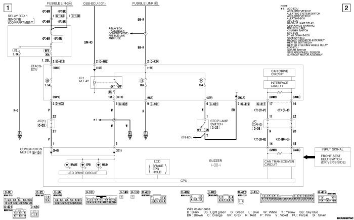 mmc outlander phev ELECTRIC PARKING  BRAKE SYSTEM левый руль