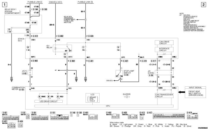 mmc outlander phev ELECTRIC PARKING  BRAKE SYSTEM (правый руль)