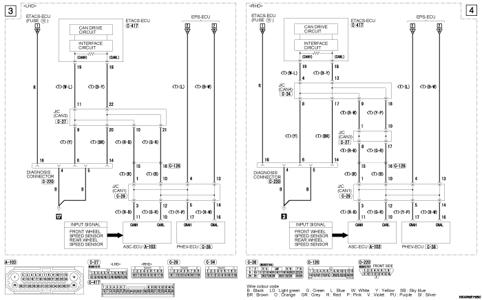 mmc outlander phev ELECTRIC  POWER STEERING SYSTEM