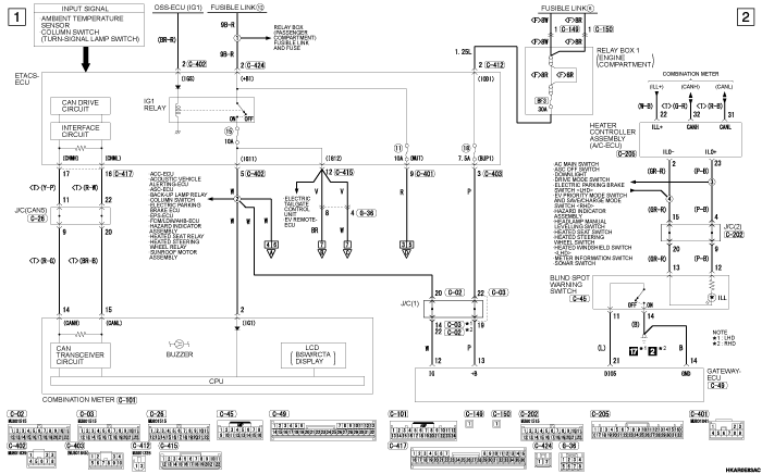 mmc outlander phev BLIND  SPOT WARNING [BSW]  (WITH LANE CHANGE ASSIST)/REAR CROSS TRAFFIC ALERT (RCTA)  SYSTEM