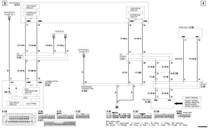 mmc outlander phev TYRE  PRESSURE MONITORING SYSTEM (TPMS) левый руль