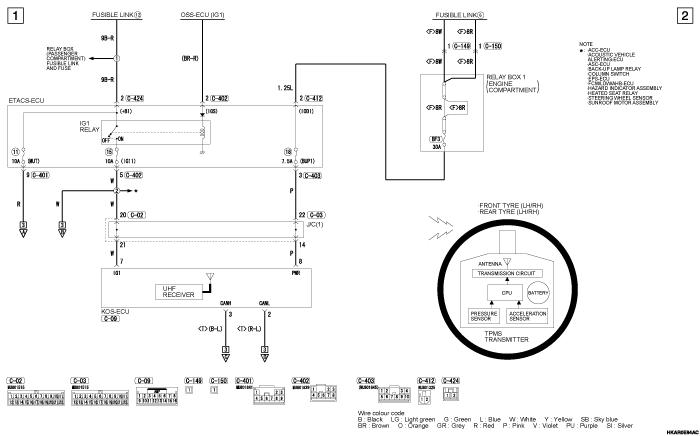 mmc outlander phev TYRE  PRESSURE MONITORING SYSTEM (TPMS) (правый руль)