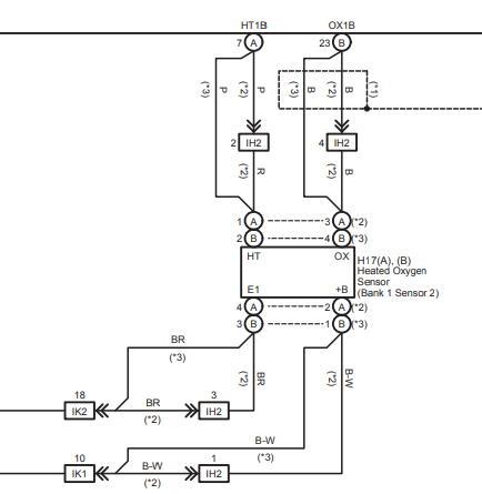 схема датчика кислорода авенсис