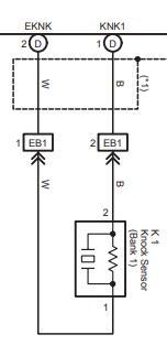 Схема датчика детонации Тойота Авенсис 1ZZ-FE/3ZZ-FE