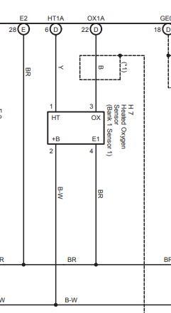 Схема датчиков кислорода Тойота Авенсис