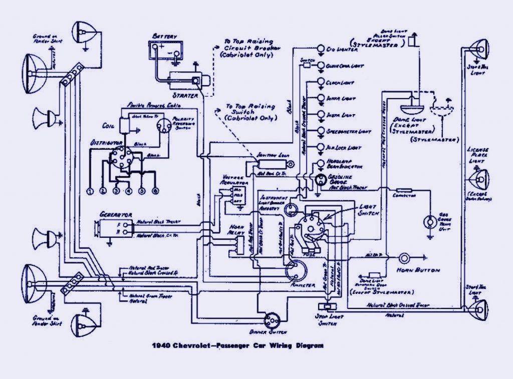 Chevrolet 1940 электросхема