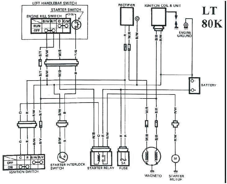 Suzuki LT80K электросхема